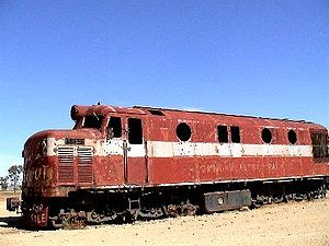 Narrow-gauge railways in Australia - NSU class diesel locomotive as used on the Central Australia Railway