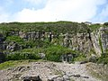 Old quarry face below the coastal path - geograph.org.uk - 1346017.jpg