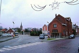 Rumst - Image: Old tram station in Rumst
