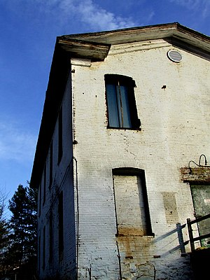 Reston, Virginia - A now abandoned whiskey distillery, long operated by the Bowman family