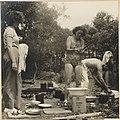 Olive Cotton washing dishes, Culburra Beach, 1937 by Max Dupain.jpg