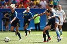 Olympic Games 2016 match between the women's teams of the United States - Sweden. 08.jpg