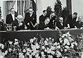 Ondertekening Benelux akkoord in de Ridderzaal te Den Haag Vlnr. Larock (België, Bestanddeelnr 121-0409.jpg