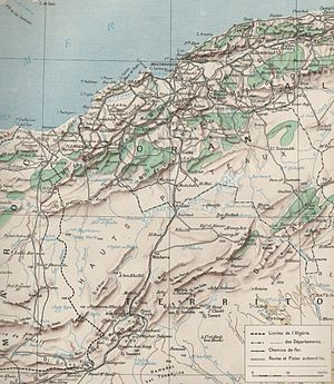 Oran (department) - Geographical map of the departement of Oran in 1930