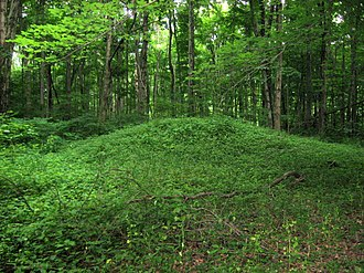 Orators Mound - View of the mound from a nearby trail