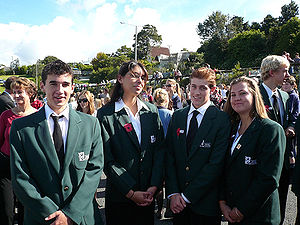 New Zealanders - New Zealand school students of European descent
