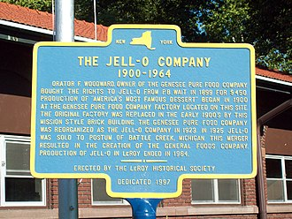 Jell-O - Original Jell-O Factory Historic Marker