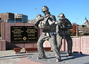 Ottawa City Hall - Ottawa Fire Fighters Memorial