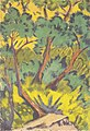 Otto Mueller - Waldstück mit Stein und Gebüsch - ca1919.jpeg