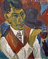 Otto Mueller met pijp door Ernst Ludwig Kirchner (1880-1938).jpg