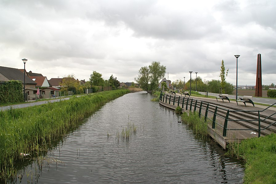 Oudenburg (Belgium): The canal Oudenburgs Vaardeken