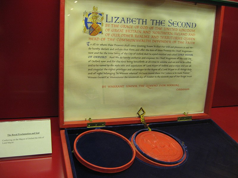 Oxford Lord Mayoralty letters patent.jpg