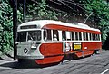 PAAC PCC 1620, a MT. WASHINGTON car picking up passengers at South Hills Jct. in Pittsburgh, PA on June 26, 1965 (26791242771).jpg