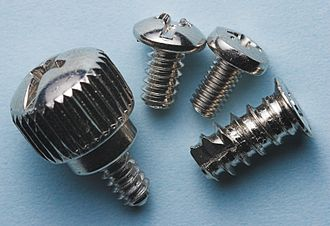 Computer case screws - Image: PC Screws