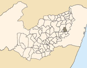 Sairé - Location of Sairé within Pernambuco.