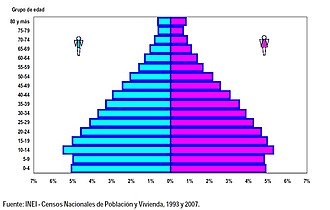 Demographics of Peru - Ages pyramid of Perú in 2007