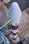 PSLV C43 HySIS launch campaign. Polar Satellite Launch Vehicle on First Launch Pad 01.jpg