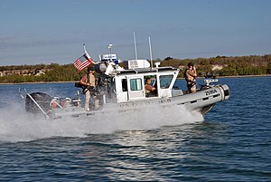 Defender-class boat - A Defender C-class boat on patrol near Guantanamo Bay
