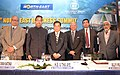 Paban Singh Ghatowar at the inauguration of the 8th North East Business Summit, in New Delhi. The Governor of Nagaland, Shri Nikhil Kumar, the Chief Minister of Sagaing Region of Myanmar, Mr. U Tha Aye and the Secretary.jpg