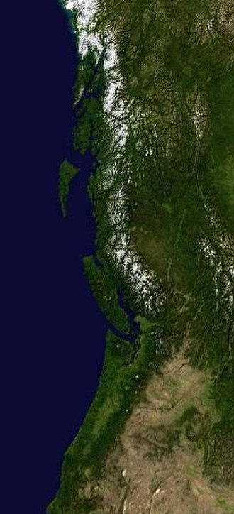 Pacific Northwest - The Pacific Northwest from outer space.