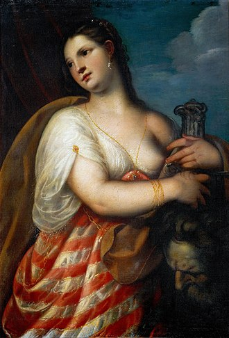 The Archduke Leopold Wilhelm in his Painting Gallery in Brussels - Image: Padovanino Judith with the head of Holofernes