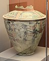 Painted ceramic jar, 2800-2600 BCE, Khafajah, Sumer EDII-III.jpg