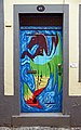 Painted door (Sea Horse). Funchal, Madeira.jpg