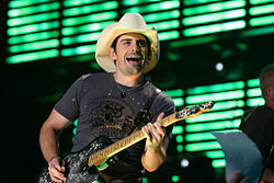 Brad Paisley performing on August 19, 2007