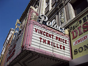 Michael Jackson's Thriller (music video) - The Palace Theatre is featured in the music video.