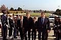 Pandeli Majko escorted into the Pentagon by Paul Wolfowitz on Nov. 19, 2001.jpg