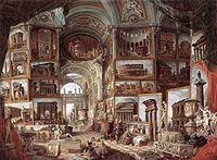 Giovanni Paolo Pannini: Galleria di Roma antica
