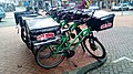 Papa John's Pizza delivery bicycles, Groningen (2020) 01.jpg