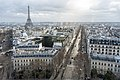 Paris from the Arc de triomphe, 14 January 2019.jpg