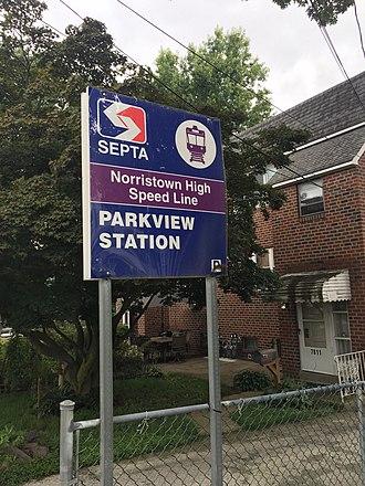 Parkview station - Image: Parkview Station 1