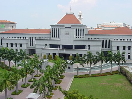 Parliament House, Singapore. As a city-state, Singapore requires no specific capital. Parliament House Singapore.jpg