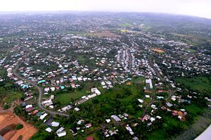 Nasinu - Aerial view of the vast residential part of Nasinu, Fiji.