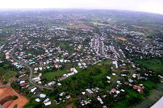 Nasinu - Aerial view of the vast residential part of Nasinu, Fiji.
