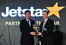 Partner of the Year Award at Changi Airline Awards 2012 (7174718328).jpg