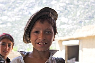 Pashayi people - Pashai boy wearing a pakul