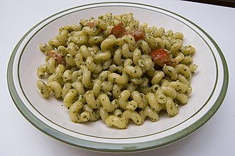 Pesto - Cavatappi with pesto alla genovese.