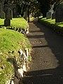 Pathway, churchyard, Tamerton Foliot - geograph.org.uk - 1043652.jpg