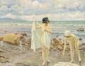 Paul Fischer - To unge kvinder på stranden.png