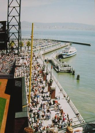 Willie McCovey - McCovey Cove and the arcade at Oracle Park