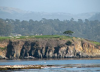 Pebble Beach Golf Links - View of the 6th hole from the 17th hole