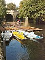 Pedalo punts, Magdalen Bridge, Oxford - geograph.org.uk - 247832.jpg