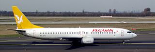 Un Boeing 737 de Pegasus Airlines.