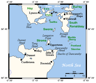 Pentland Firth - Map of the Pentland Firth and associated lands