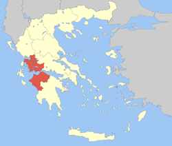 Location of Wast Greece
