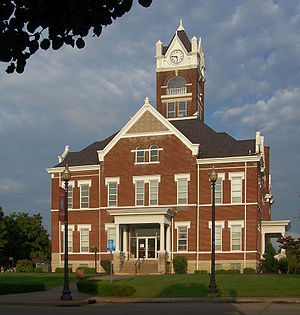 National Register of Historic Places listings in Perry County, Missouri - Image: Perryville, Missouri County Court House 1 retouched