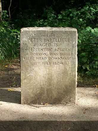 Box Hill, Surrey - Labilliere's tombstone